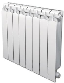 Aluminium Heizkörper Smeraldo 800 - 89,5cm Bauhöhe - 40cm Baubreite (Baubreite nach Wahl) -