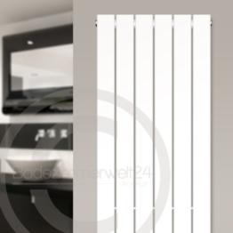 AQUABAD TRAPFLEX® Badheizkörper Saturn - Typ: Paneel-Style, Weiss, Breite/Höhe 53,2 120 cm -