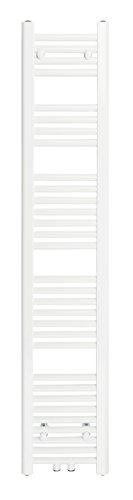 Badheizkörper 300x1500 mm Gerade Weiß Mittelanschluss R18 - Größe 300X1500 -
