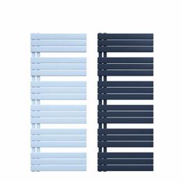 Badheizkörper 50 mm Anschluss Design Paneelheizkörper Heizung (600 x 1150 mm, Weiß) - 1