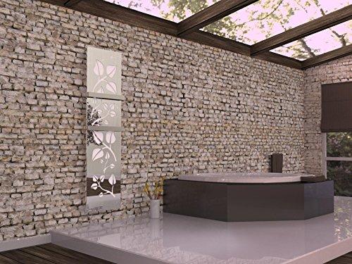 moderne heizkoerper wohnraum bad, badheizkörper design leaves 3, hxb: 180 x 47 cm, 1118 watt, weiß, Design ideen