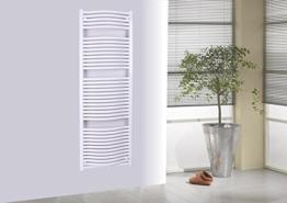 Badheizkörper Design München 3, HxB: 177 x 60 cm, 1471 Watt, weiß (Marke: Szagato) Made in Germany / Top-verarbeiteter Bad und Wohnraum-Heizkörper (Mittelanschluss) -