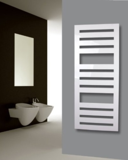 Badheizkörper Design Zebra 2, HxB: 144 x 60 cm, 911 Watt, weiß (Marke: Szagato) Made in Germany / Top-verarbeiteter Bad und Wohnraum-Heizkörper (Mittelanschluss) -