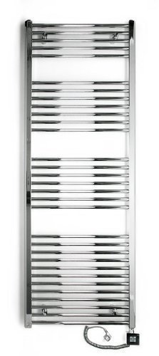 Badheizkörper, elektrisch, elektro 1775h x 600b chrom/gerade, Elektrobadheizkörper, hochwertig, Handtuchhalter -