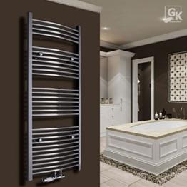 Badheizkörper Handtuchwärmer Handtuchheizkörper 1800x500 Chrom gebogen Mittelanschluß - 1