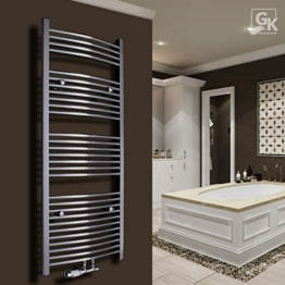 Badheizkörper Handtuchwärmer Handtuchheizkörper Heizkörper 1800x600 CHROM Gerade mit Armatur - 1