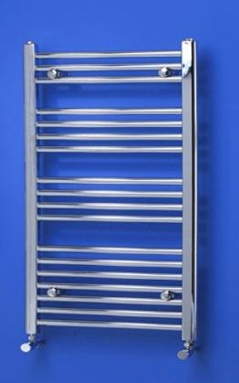 Badheizkörper LIDYA Chrom 700 x 600 mm. Gerade Handtuchtrockner Handtuchwärmer -