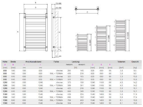 badheizk rper serie mt 860mm x 540mm sx rechts und links. Black Bedroom Furniture Sets. Home Design Ideas