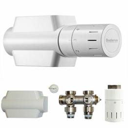 Buderus Ventil-Armaturen Set Multiblock Universal Eck- und Durchgangsform inkl. Thermostatkopf mit Nullstellung - 1