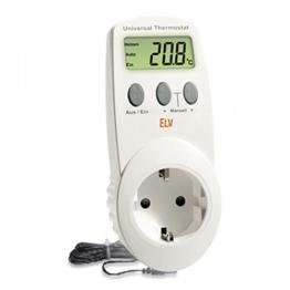 Conrad UT-200, elektronisches Universalthermostat mit Zwischenstecker, für Heiz- und Kühlbetrieb (-40 bis 99 °C) geeignet. -