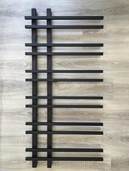 Design Badheizkörper VENTO 1200 x 550 mm. Schwarz Badheizkörper Handtuchtrockner -