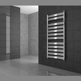 Design Designheizkörper Heizkörper Badheizkörper Handtuchwärmer 500 x 950 mm Chrom mit Heizstab 600W - 1