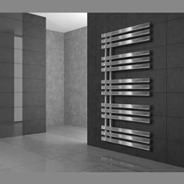 Design Designheizkörper Heizkörper Badheizkörper Handtuchwärmer Elektrisch 500 x 1200 mm Chrome mit Heizstab 1200W -