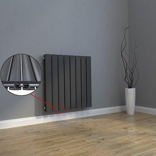 design heizk rper 630x847mm einlagig badezimmer wohnraum mittelanschluss antrazit. Black Bedroom Furniture Sets. Home Design Ideas