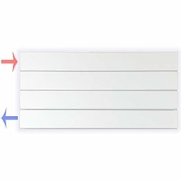 Design Paneelheizkörper Heizkörper Badheizkörper horizontal 30 x 60 (205 Watt nach EN442) - 1