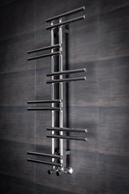 Designer Handtuchheizkörper Badheizkörper 1005x550mm Chrom -