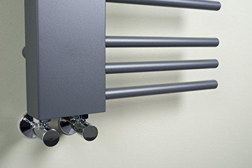 designer handtuchheizk rper badheizk rper 1085 x 450 mm grau heizk rper profi. Black Bedroom Furniture Sets. Home Design Ideas