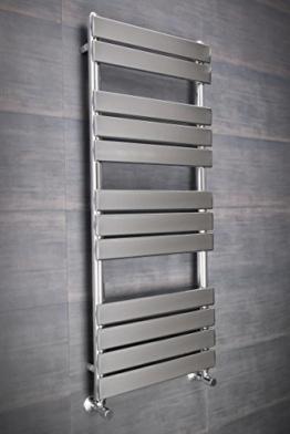 Designer Handtuchheizkörper Badheizkörper 1200x500mm Chrom -
