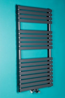 Designer Handtuchheizkörper Badheizkörper 1200x600mm Grau -