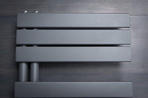 designer handtuchheizk rper badheizk rper 1380x500mm grau heizk rper profi. Black Bedroom Furniture Sets. Home Design Ideas