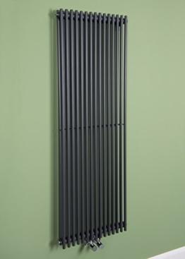Designer Handtuchheizkörper Badheizkörper 1400x450mm Grau -