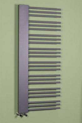 Designer Handtuchheizkörper Badheizkörper 1455x600mm Grau -