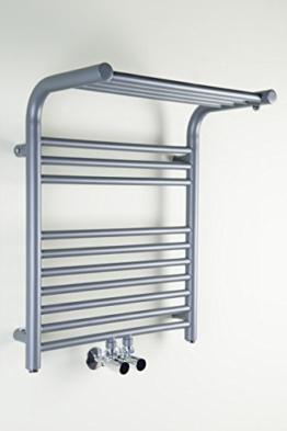 Designer Handtuchheizkörper Badheizkörper 600 x 500 x 260 Grau -