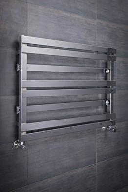 Designer Handtuchheizkörper Badheizkörper 800x616mm Chrom -