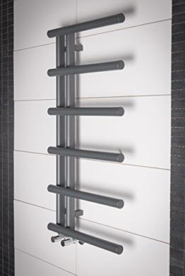 Designer Handtuchheizkörper Badheizkörper 988x500mm Grau -