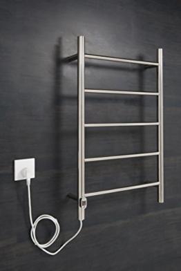 Elektrischer Handtuchheizkörper, Badheizkörper 800x500 Chrom -