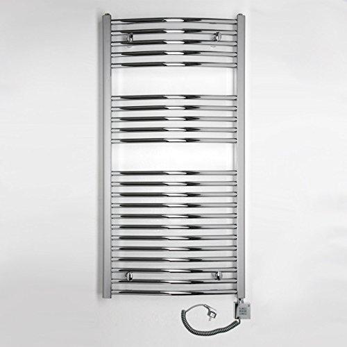 elektro badheizk rper 419 watt h x b 1175 x 600mm chrom gerade anschluss rechts inkl. Black Bedroom Furniture Sets. Home Design Ideas