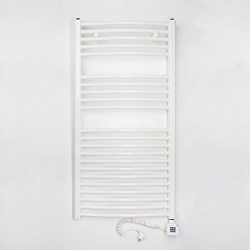 elektro badheizk rper 622 watt h x b 1175 x 600mm weiss gerade anschluss rechts inkl. Black Bedroom Furniture Sets. Home Design Ideas