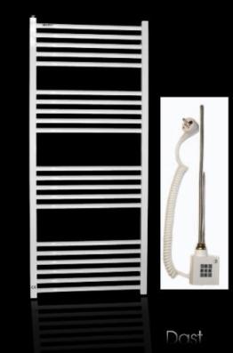 Elektrobadheizkörper weiß gerade 1074h x 600b, Handtuchhalter, Handtuchheizung, elektro, elektrisch -