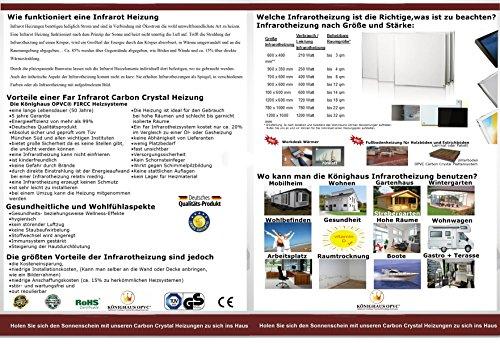 fern infrarot heizung 600 watt mit digital thermostat gs. Black Bedroom Furniture Sets. Home Design Ideas