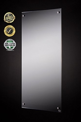 FERN INFRAROT SPIEGELHEIZUNG (neueste Technologie) 300W Spiegel Heizung auf Carbon Crystal Basis mit höchsten Sicherheitsstandards (CE, ROHS), 50 Jahre/100.000Std Lebensdauer und 99% Heizübertragung -