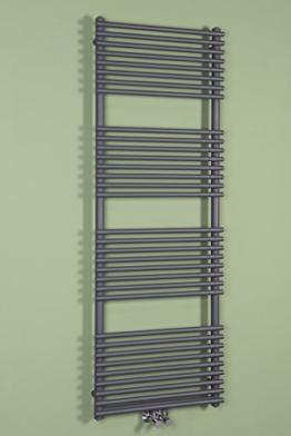 Handtuchheizkörper Badheizkörper Handtuchwärmer 1700x600mm Grau -