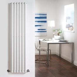 Hudson Reed Heizkörper - Savy - 1600 mm x 354 mm - 1177 Watt - Vertikale Design Heizung mit Oberfläche in Weiß -