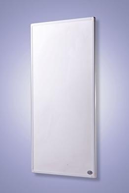 Infrarot Heizung mit Digitalthermostat Elektroheizung mit Stecker für Steckdose - 5 Jahre Premium-Herstellergarantie- Elektroheizung mit Überhitzungsschutz und TÜV - Heizt nach dem Prinzip der Sonne - heizt im optimalen Wellenlängenbereich von 8-15µ - Sonnenheizung (130 Watt) -