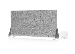 Infrarotheizung (Granit grau-beige) 400 Watt Stand-Variante mit Steckdosenregler -