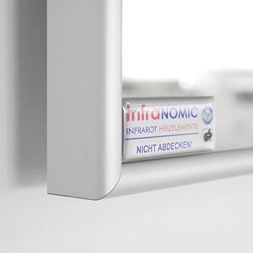 infrarotheizung spiegel mit aluminium rahmen 10mm 210. Black Bedroom Furniture Sets. Home Design Ideas