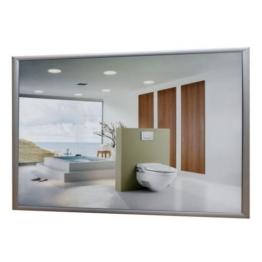 Infrarotheizung Spiegel mit Alurahmen, 600 Watt -