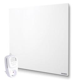 Infrarotheizung VASNER Citara M 450 Watt Metall mit Universal-Thermostat VUT35 - auch als Wandheizung u. Deckenheizung, Flächenheizung, Elektroheizung, Steckdosenthermostat, Schaltsteckdose, Raumthermostat, Frost-Schutz-Funktion -