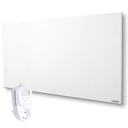 Infrarotheizung VASNER Citara M 900 Watt Metall mit Universal-Thermostat VUT35 - auch als Wandheizung u. Deckenheizung, Flächenheizung, Elektroheizung, Steckdosenthermostat, Schaltsteckdose, Raumthermostat, Frost-Schutz-Funktion -
