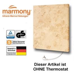 Marmony M500-0066 Jura ohne Thermostat Marmor Naturstein Infrarot-Heizung mit 500W, steckerfertig zum Aufhängen -