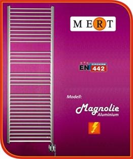 MERT Elektro Aluminium Badheizkörper Lupine 600 x 1780 mm incl. Regler und Hei -
