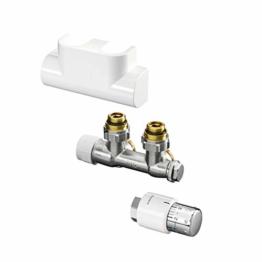 Oventrop Zubehör Set für Heizstrahler für Badezimmer, mit thermostat Uni SH Multiblock T-Form - 1