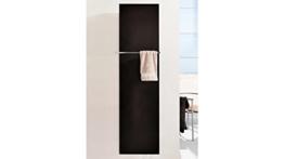 SZ METALL Design-Badheizkörper Mirror Steel 120 cm, schwarz -