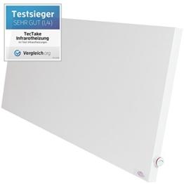 TecTake® Infrarotheizung Hybrid Paneel Heizplatte Heizpaneel 1400 Watt manueller Thermostatregler ink. Wandhalterung, Heizfolie Made in Germany -
