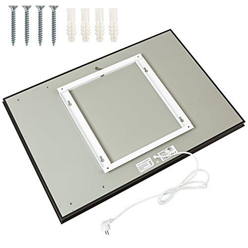 tectake spiegel infrarotheizung spiegelheizung 650 watt. Black Bedroom Furniture Sets. Home Design Ideas