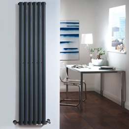 Vertikale Design Heizkörper in Anthrazit Revive 1600 mm x 354 mm - 1680 Watt -